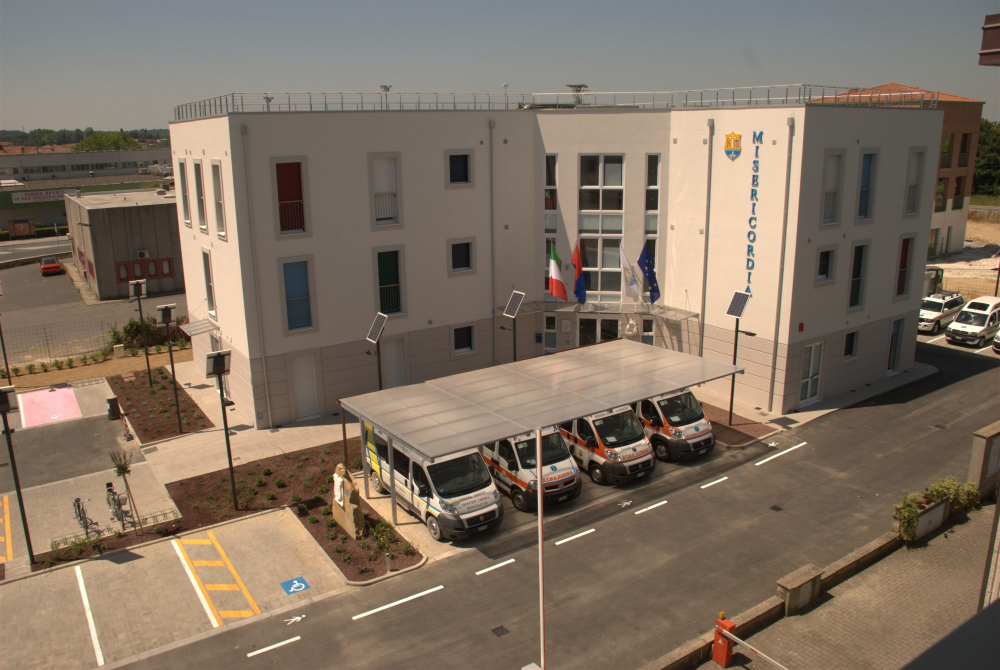 New headquarters of the charity organization Misericordia