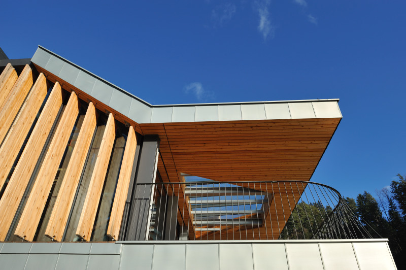 Larch façade and blinds