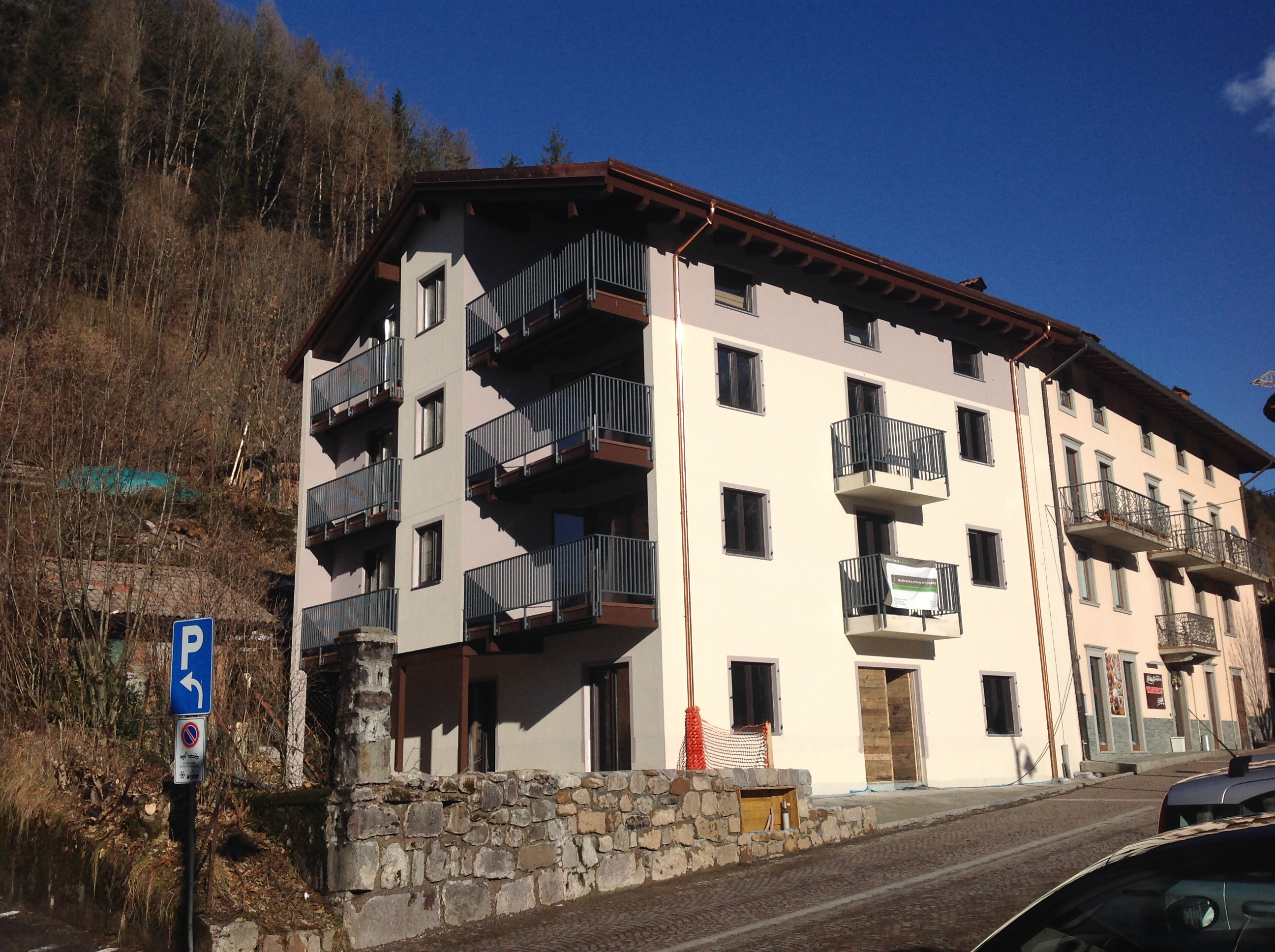 Four storey wooden building in Italy